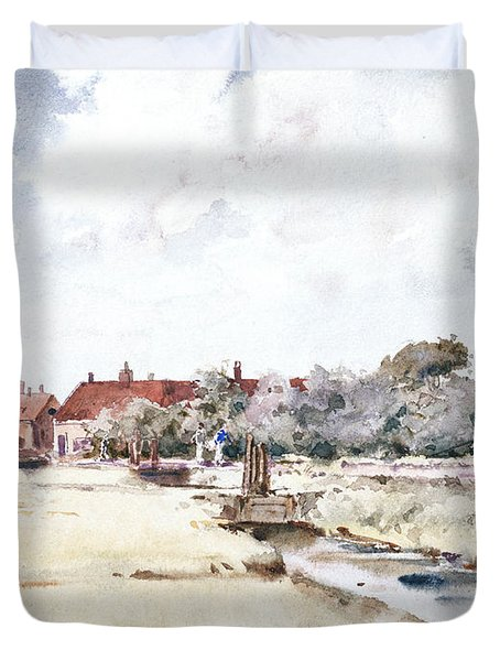 Canal Scene Duvet Cover by Childe Hassam