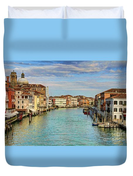 Canals Of Venice  Duvet Cover