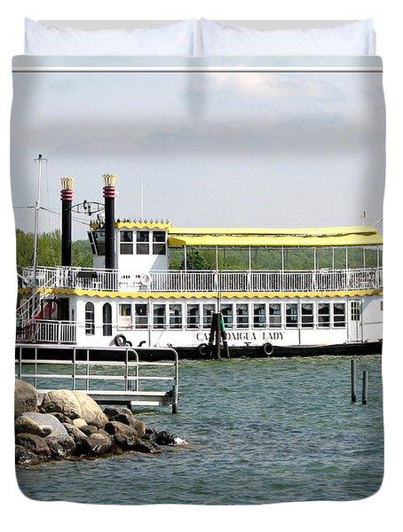 Canandaigua Lady Paddleboat Duvet Cover by Rose Santuci-Sofranko
