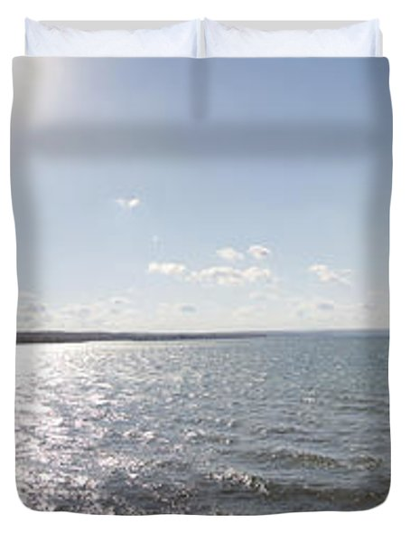 Duvet Cover featuring the photograph Canandaigua Lake Panorama by William Norton