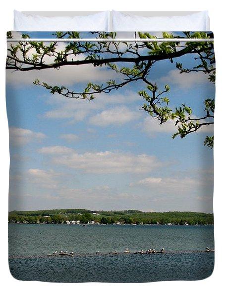 Canandaigua Lake Duvet Cover by Rose Santuci-Sofranko