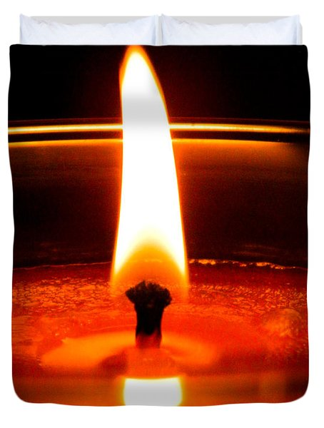 Duvet Cover featuring the photograph Candlelight by Ester  Rogers