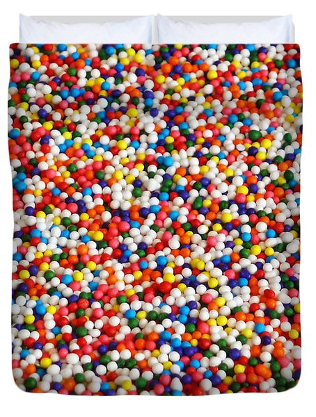 Candy Balls Duvet Cover by Methune Hively
