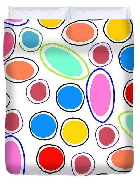 Candy Spots Duvet Cover by Louisa Knight