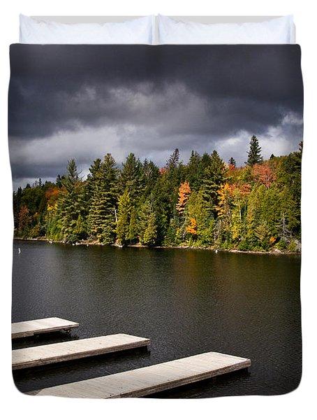 Canoe Lake Duvet Cover