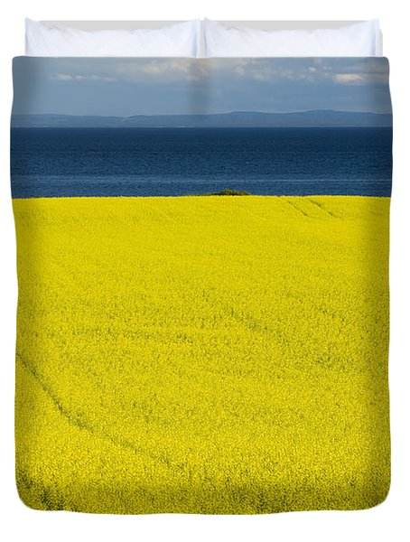 Canola Field, Guernsey Cove, Prince Duvet Cover