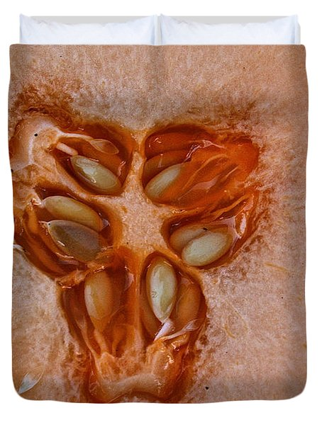 Cantaloupe Core Duvet Cover by Susan Herber