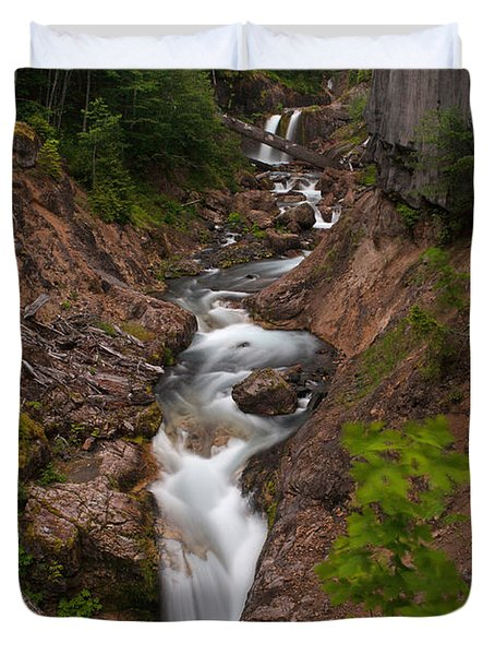Canyon Stream Duvet Cover by Mike Reid