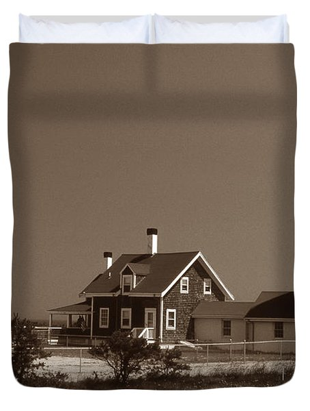 Cape Cod Lighthouse Duvet Cover by Skip Willits