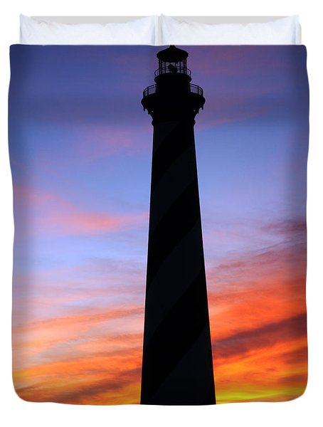 Cape Hatteras Sunset Duvet Cover by Tony Cooper