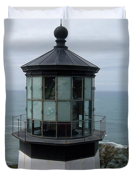 Cape Meares Lighthouse Duvet Cover by Peter Mooyman