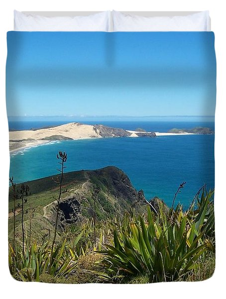 Cape Reinga - North Island Duvet Cover by Peter Mooyman