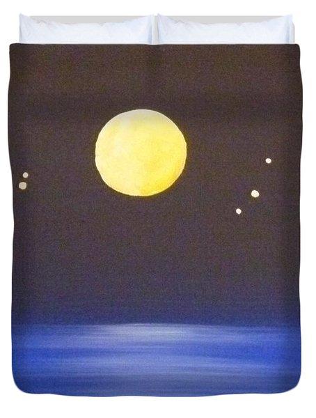 Capricorn And Libra Duvet Cover by Alys Caviness-Gober