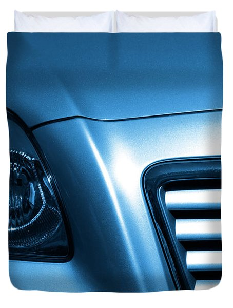 Car Face Duvet Cover by Carlos Caetano