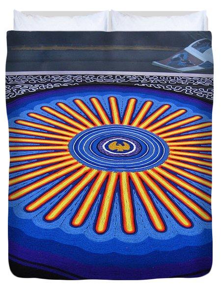Car Hood Of Yarn Duvet Cover by Kym Backland