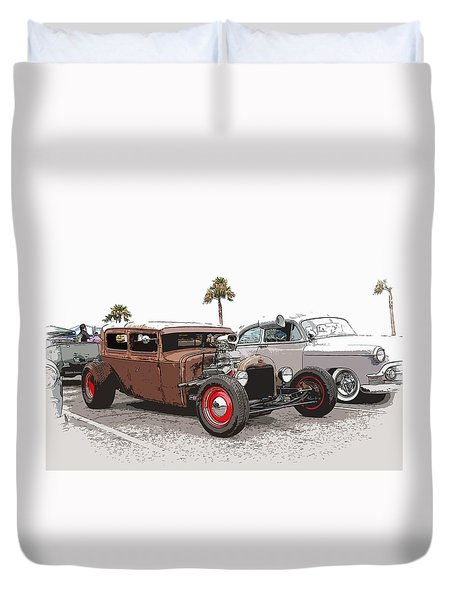 Car Show Cool Duvet Cover by Steve McKinzie