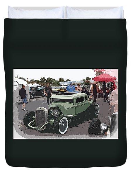 Car Show Coupe Duvet Cover by Steve McKinzie