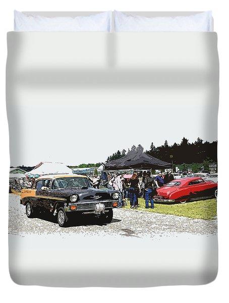 Car Show Gasser Duvet Cover by Steve McKinzie