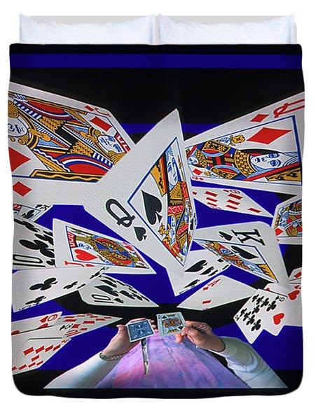 Card Tricks Duvet Cover by Bob Christopher
