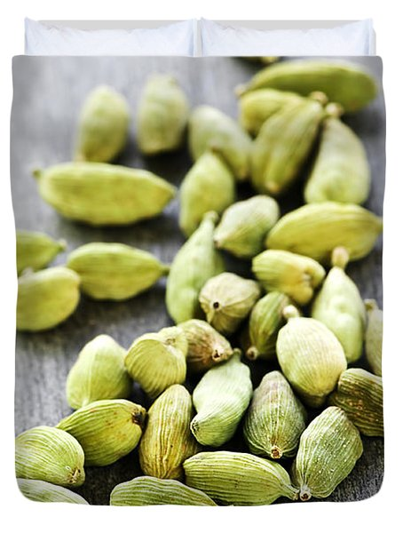 Cardamom Seed Pods Duvet Cover by Elena Elisseeva