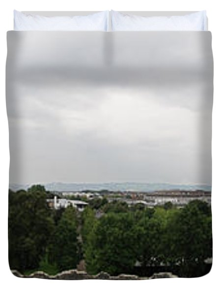 Cardiff Castle Panorama Duvet Cover
