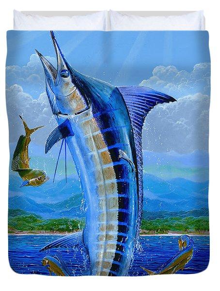 Caribbean Blue Duvet Cover by Carey Chen