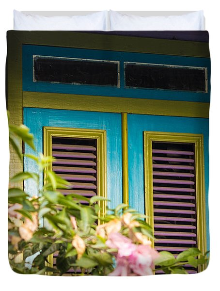Caribbean Blue Duvet Cover by Rene Triay Photography
