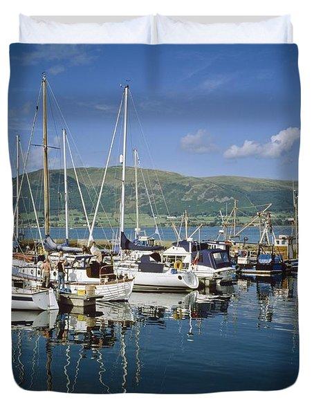 Carlingford Yacht Marina, Co Louth Duvet Cover