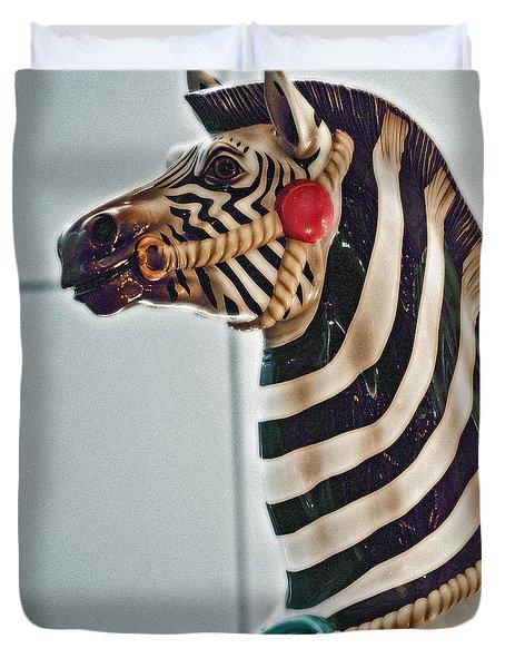 Carousel Zebra Duvet Cover by Bill Owen