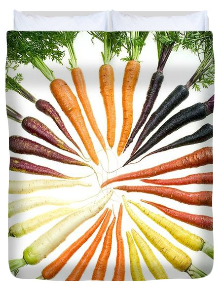 Carrot Pigmentation Variation Duvet Cover by Science Source