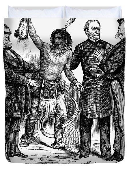 Cartoon: Native Americans, 1876 Duvet Cover