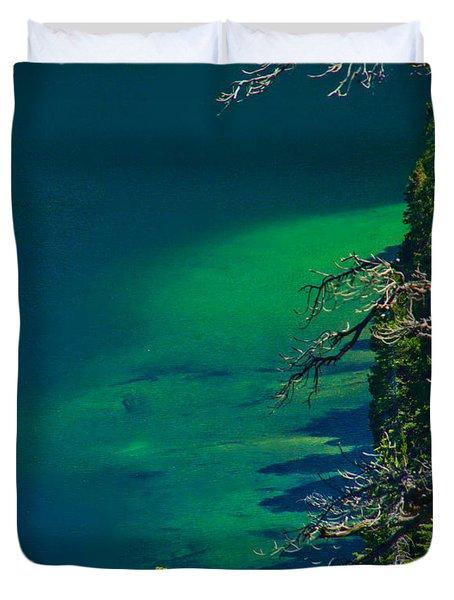 Cascade Lake Inlet Delta Duvet Cover