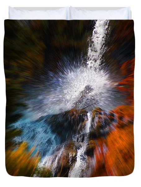 Cascade Waterfall Duvet Cover by Mick Anderson