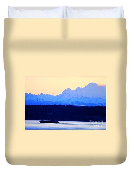 Washington Puget Sound Cascade Waterway Duvet Cover