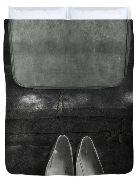 Case And Shoes Duvet Cover by Joana Kruse