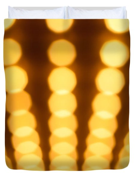 Casino Lights Out Of Focus Duvet Cover