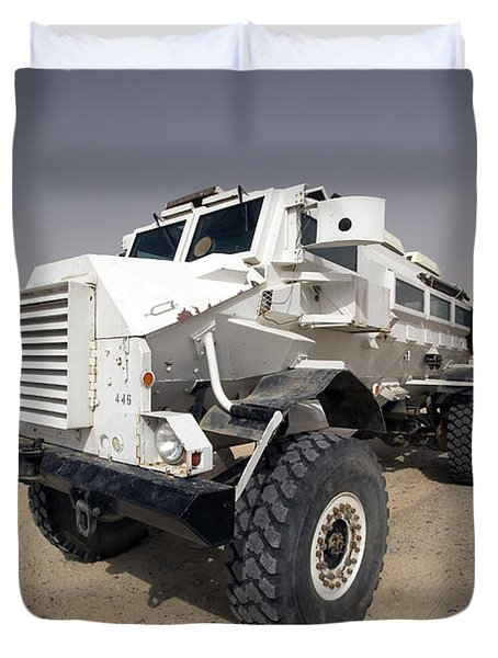 Casper Armored Vehicle Sits Duvet Cover by Terry Moore
