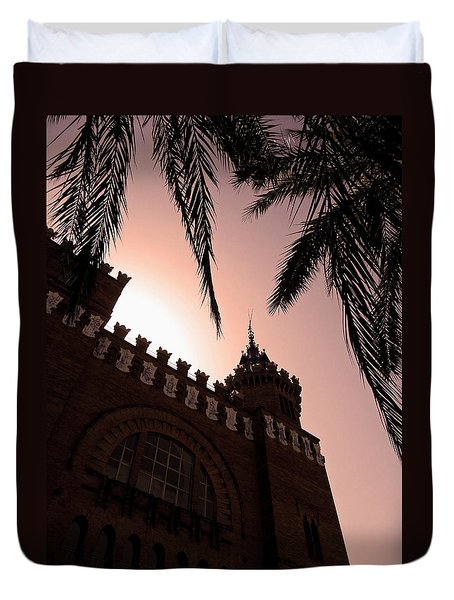 Duvet Cover featuring the photograph Castell Dels Tres Dragons - Barcelona by Juergen Weiss