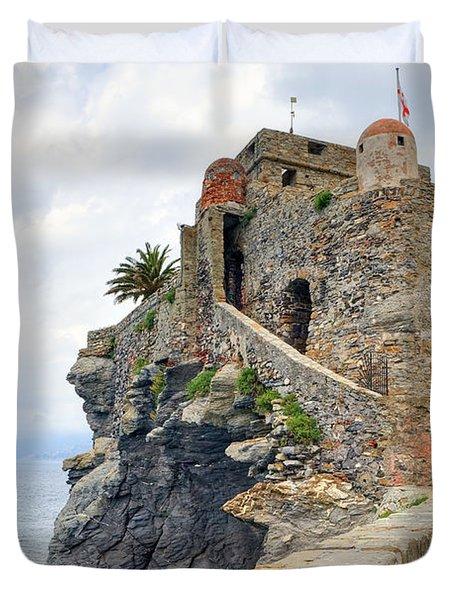 Castello Della Dragonara In Camogli Duvet Cover by Joana Kruse