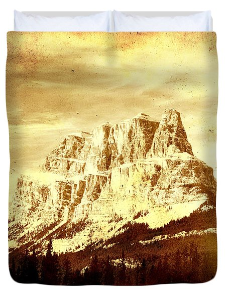 Castle Mountain Duvet Cover by Alyce Taylor