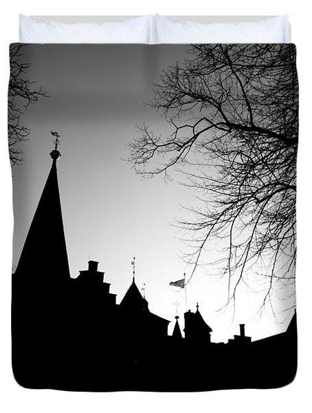 Castle Silhouette Duvet Cover by Semmick Photo