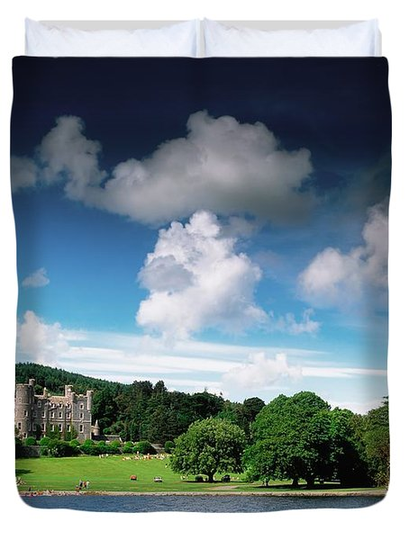 Castlewellan Castle & Lake, Co Down Duvet Cover by The Irish Image Collection