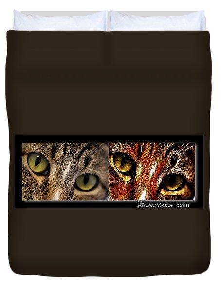Cat Eyes Duvet Cover by EricaMaxine  Price