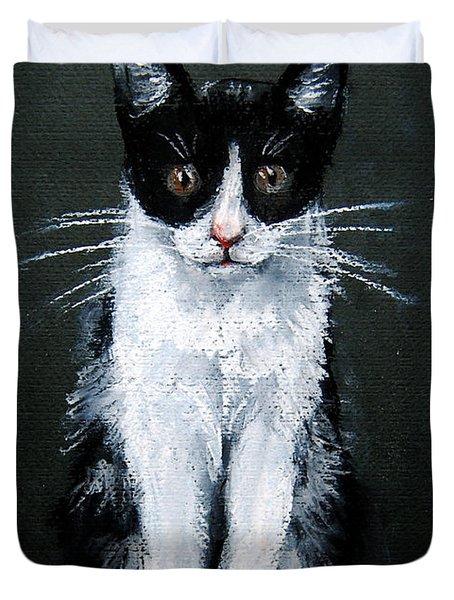 Cat I Duvet Cover by Mona Edulesco