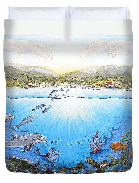 Catalina Island California Duvet Cover by Jerome Stumphauzer