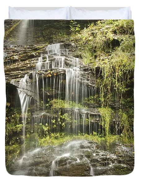 Cathedral Falls 3249 Duvet Cover by Michael Peychich