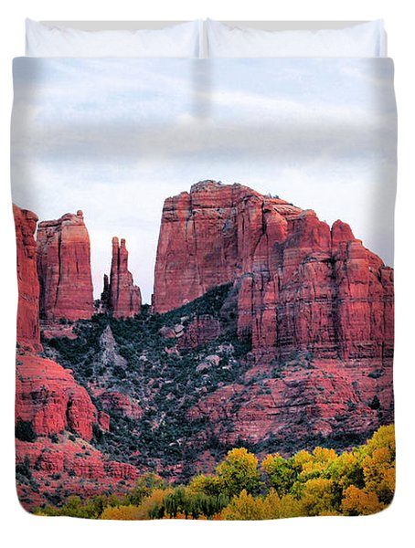 Cathedral Rock Duvet Cover by Kristin Elmquist