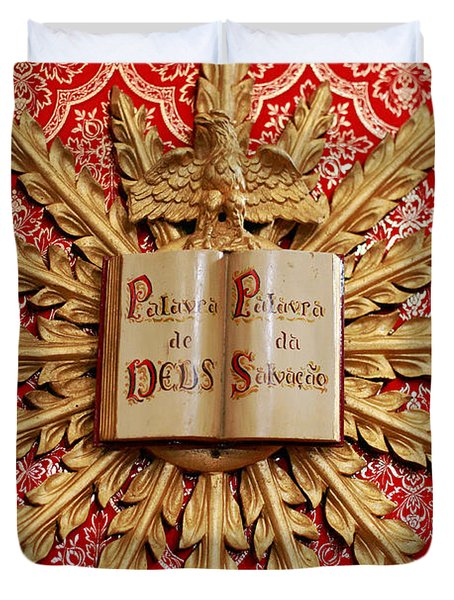 Catholic Church Decorations Duvet Cover by Gaspar Avila