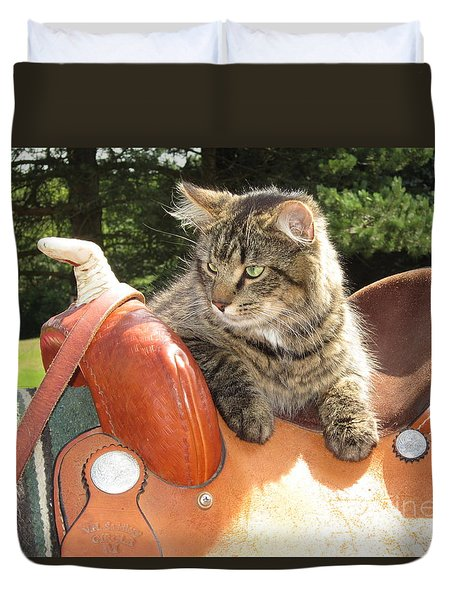 Cats Ride Free Duvet Cover
