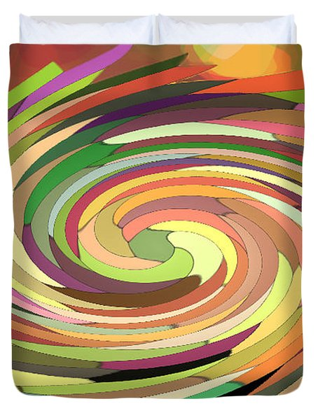 Cat's Tail In Motion. Stained Glass Effect. Duvet Cover by Ausra Huntington nee Paulauskaite